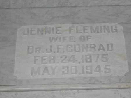 CONRAD, JENNIE FLEMING - Union County, Ohio | JENNIE FLEMING CONRAD - Ohio Gravestone Photos