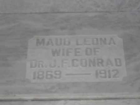 CONRAD, MAUD LEONA - Union County, Ohio | MAUD LEONA CONRAD - Ohio Gravestone Photos