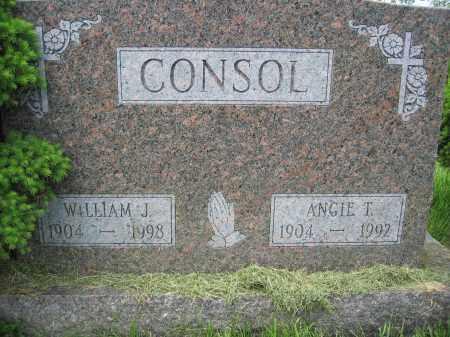 CONSOL, ANGIE T. - Union County, Ohio   ANGIE T. CONSOL - Ohio Gravestone Photos