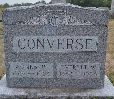 CONVERSE, EVERETT W. - Union County, Ohio | EVERETT W. CONVERSE - Ohio Gravestone Photos