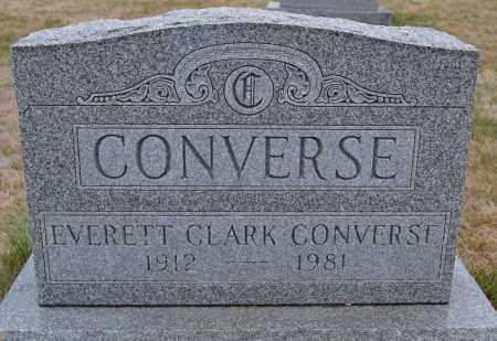 CONVERSE, EVERETT CLARK - Union County, Ohio | EVERETT CLARK CONVERSE - Ohio Gravestone Photos