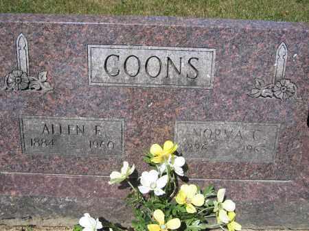 COONS, ALLEN E. - Union County, Ohio   ALLEN E. COONS - Ohio Gravestone Photos