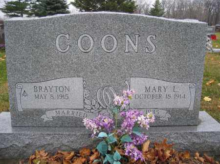 COONS, MARY L. - Union County, Ohio   MARY L. COONS - Ohio Gravestone Photos