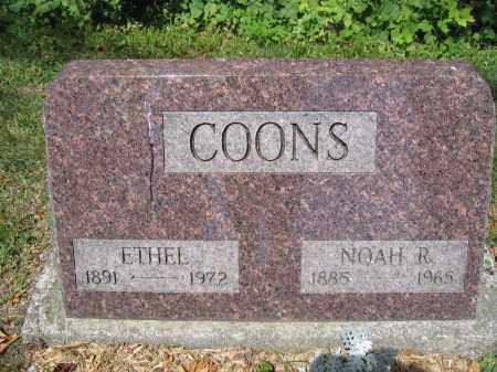 COONS, NOAH R. - Union County, Ohio | NOAH R. COONS - Ohio Gravestone Photos