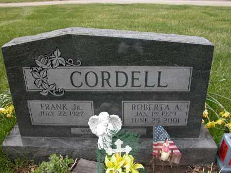 CORDELL, ROBERTA A - Union County, Ohio | ROBERTA A CORDELL - Ohio Gravestone Photos