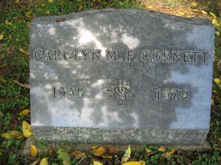 CORNETT, CAROLYN M.F. - Union County, Ohio   CAROLYN M.F. CORNETT - Ohio Gravestone Photos
