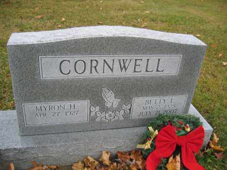 CORNWELL, BETTY L. - Union County, Ohio   BETTY L. CORNWELL - Ohio Gravestone Photos