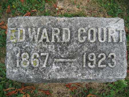 COURT, EDWARD - Union County, Ohio | EDWARD COURT - Ohio Gravestone Photos