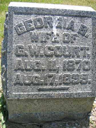 COURT, GEORGIA B. - Union County, Ohio   GEORGIA B. COURT - Ohio Gravestone Photos