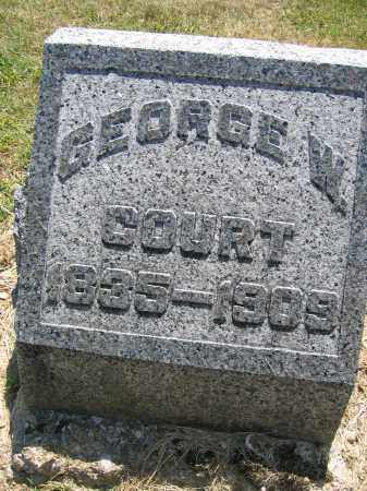 COURT, GEORGE W. - Union County, Ohio | GEORGE W. COURT - Ohio Gravestone Photos