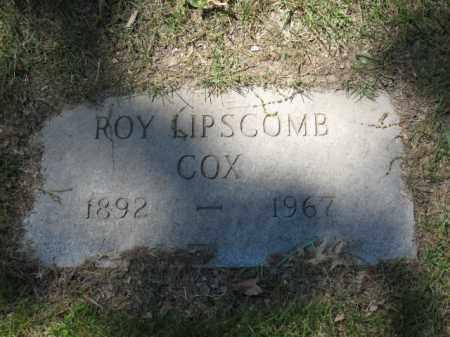 COX, ROY LIPSCOMB - Union County, Ohio   ROY LIPSCOMB COX - Ohio Gravestone Photos