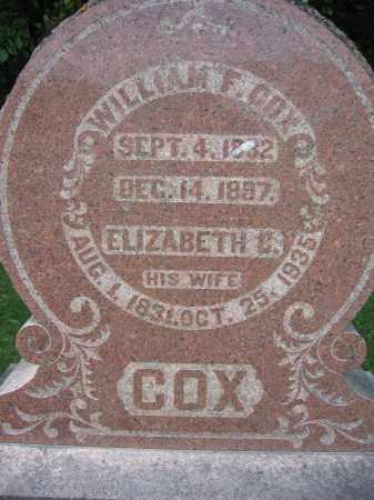 COX, WILLIAM F. - Union County, Ohio | WILLIAM F. COX - Ohio Gravestone Photos