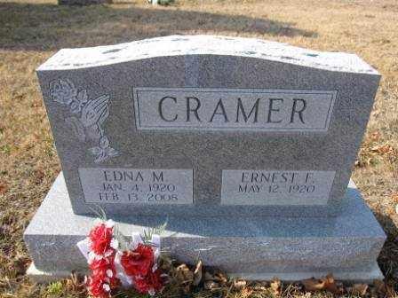 CRAMER, EDNA M. - Union County, Ohio   EDNA M. CRAMER - Ohio Gravestone Photos