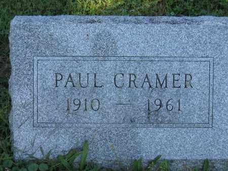 CRAMER, PAUL - Union County, Ohio | PAUL CRAMER - Ohio Gravestone Photos