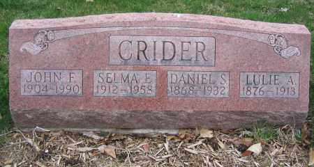 CRIDER, JOHN F. - Union County, Ohio | JOHN F. CRIDER - Ohio Gravestone Photos