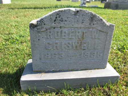 CRISWELL, ROBERT W. - Union County, Ohio | ROBERT W. CRISWELL - Ohio Gravestone Photos