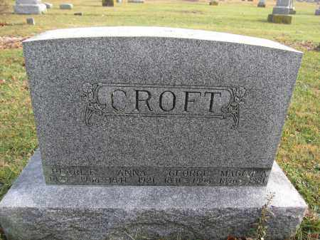 CROFT, ANNA FORBES - Union County, Ohio | ANNA FORBES CROFT - Ohio Gravestone Photos