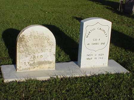 CRONLEY, MARTIN - Union County, Ohio | MARTIN CRONLEY - Ohio Gravestone Photos