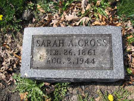 CROSS, SARAH A. - Union County, Ohio | SARAH A. CROSS - Ohio Gravestone Photos