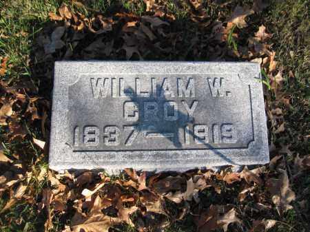CROY, WILLIAM W. - Union County, Ohio   WILLIAM W. CROY - Ohio Gravestone Photos