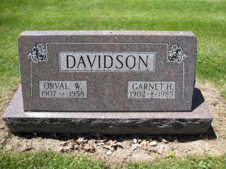 DAVIDSON, ORVAL W. - Union County, Ohio | ORVAL W. DAVIDSON - Ohio Gravestone Photos