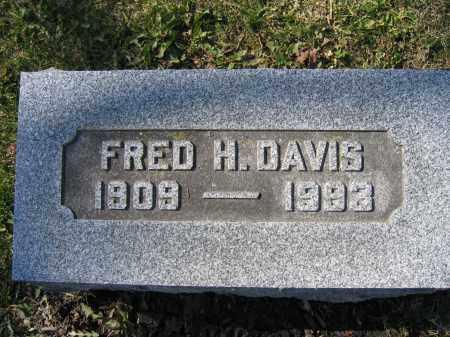 DAVIS, FRED H - Union County, Ohio   FRED H DAVIS - Ohio Gravestone Photos