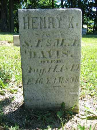 DAVIS, HENRY K. - Union County, Ohio | HENRY K. DAVIS - Ohio Gravestone Photos