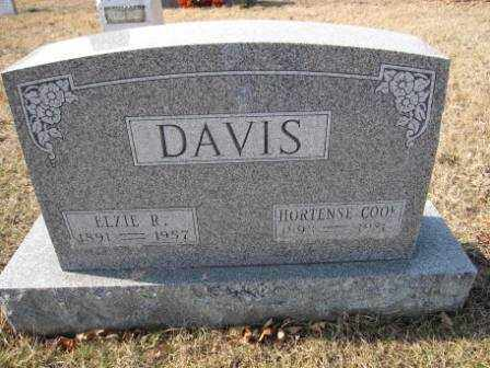 DAVIS, HORTENSE COOK - Union County, Ohio | HORTENSE COOK DAVIS - Ohio Gravestone Photos
