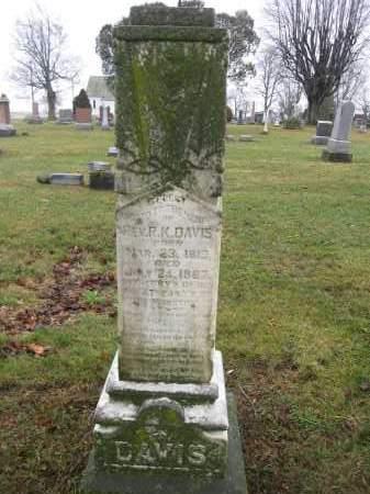DAVIS, R.K. - Union County, Ohio | R.K. DAVIS - Ohio Gravestone Photos
