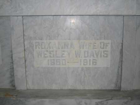 DAVIS, ROXANNA - Union County, Ohio | ROXANNA DAVIS - Ohio Gravestone Photos