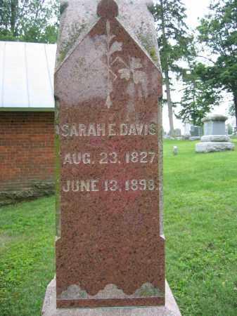 DAVIS, SARAH E. - Union County, Ohio | SARAH E. DAVIS - Ohio Gravestone Photos