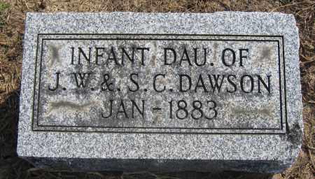 DAWSON, INFANT DAUGHTER - Union County, Ohio   INFANT DAUGHTER DAWSON - Ohio Gravestone Photos