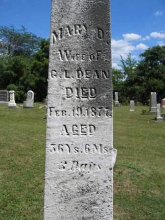 DEAN, MARY D. - Union County, Ohio   MARY D. DEAN - Ohio Gravestone Photos