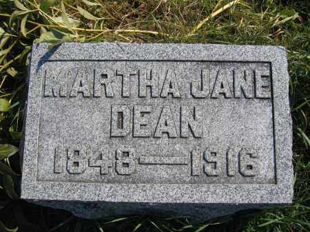 DEAN, MARTHA JANE - Union County, Ohio | MARTHA JANE DEAN - Ohio Gravestone Photos
