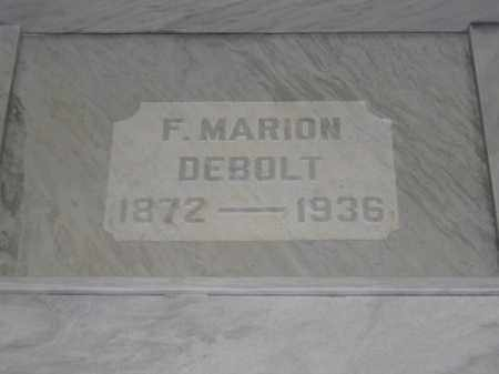 DEBOLT, F. MARION - Union County, Ohio | F. MARION DEBOLT - Ohio Gravestone Photos