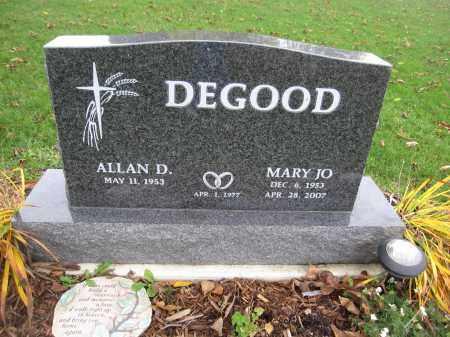 DEGOOD, MARY JO. - Union County, Ohio | MARY JO. DEGOOD - Ohio Gravestone Photos