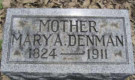 DENMAN, MARY A. - Union County, Ohio | MARY A. DENMAN - Ohio Gravestone Photos