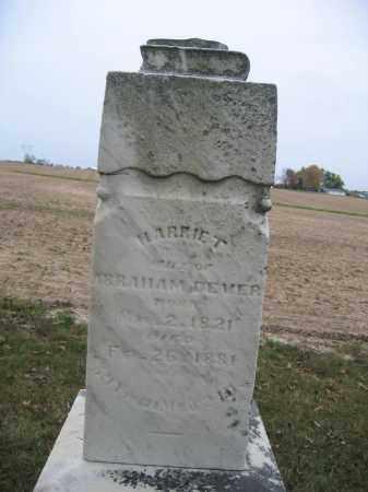 DEVER, HARRIET - Union County, Ohio | HARRIET DEVER - Ohio Gravestone Photos