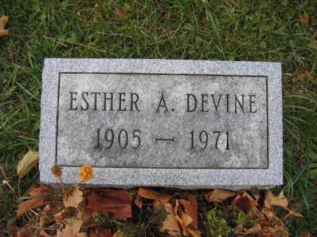 DEVINE, ESTHER A. - Union County, Ohio | ESTHER A. DEVINE - Ohio Gravestone Photos