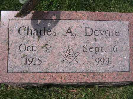 DEVORE, CHARLES A. - Union County, Ohio | CHARLES A. DEVORE - Ohio Gravestone Photos