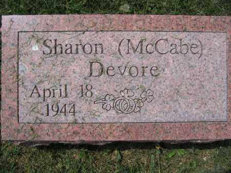 MCCABE DEVORE, SHARON - Union County, Ohio | SHARON MCCABE DEVORE - Ohio Gravestone Photos
