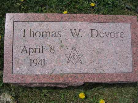 DEVORE, THOMAS W. - Union County, Ohio | THOMAS W. DEVORE - Ohio Gravestone Photos