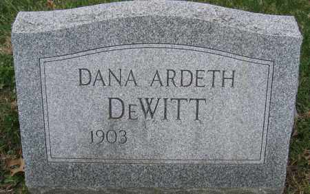 DEWITT, DANA ARDETH - Union County, Ohio | DANA ARDETH DEWITT - Ohio Gravestone Photos
