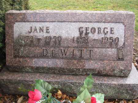 DEWITT, GEORGE HUSTON - Union County, Ohio | GEORGE HUSTON DEWITT - Ohio Gravestone Photos