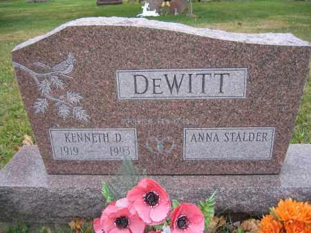 DEWITT, ANNA STALDER - Union County, Ohio | ANNA STALDER DEWITT - Ohio Gravestone Photos