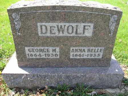 DEWOLF, ANNA BELLE - Union County, Ohio | ANNA BELLE DEWOLF - Ohio Gravestone Photos