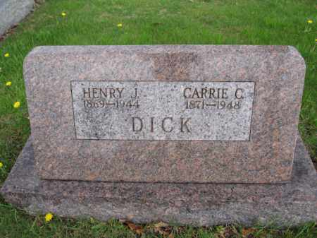 DICK, CARRIE C. - Union County, Ohio   CARRIE C. DICK - Ohio Gravestone Photos