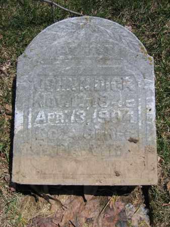 DICK, JOHN N. - Union County, Ohio   JOHN N. DICK - Ohio Gravestone Photos