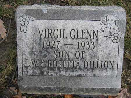 DILLION, VIRGIL GLENN - Union County, Ohio   VIRGIL GLENN DILLION - Ohio Gravestone Photos