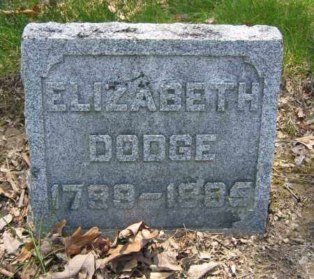 DODGE, ELIZABETH - Union County, Ohio   ELIZABETH DODGE - Ohio Gravestone Photos